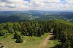 De bergen van Beskydy Royalty-vrije Stock Foto