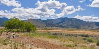 De Bergen van Californië van de Provincie van Siskiyou dichtbij MT Shasta stock foto's
