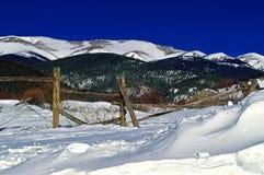 De Bergen van Colorado in de Winter royalty-vrije stock foto