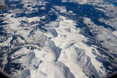 De bergen van Colorado van de lucht Stock Afbeeldingen