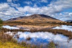 De bergen van Connemara Stock Foto