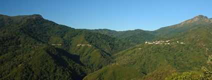 De bergen van Corsica Stock Afbeelding