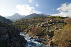 De bergen van Corsica royalty-vrije stock fotografie