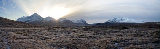 De Bergen van Cullin op het eiland van Skye Schotland Stock Afbeeldingen