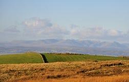 De bergen van Cumbrian van Bowland legt vast stock foto's