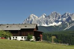 De Bergen van Dachstein Stock Afbeeldingen