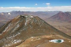De Bergen van de Andes, Chili Stock Afbeeldingen