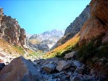 De bergen van de daling Stock Fotografie