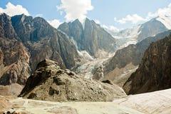 De Bergen van de gletsjer royalty-vrije stock fotografie