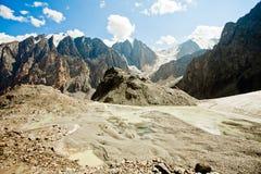 De bergen van de gletsjer stock afbeelding