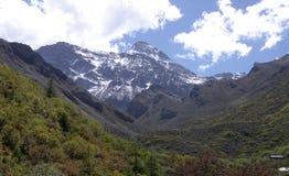 De bergen van de hemel en van de sneeuw Stock Foto