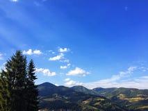 De bergen van de Karpaten in de Oekraïne Stock Afbeeldingen