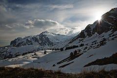 De bergen van de Kaukasus, Fischt, Oshten Royalty-vrije Stock Afbeeldingen
