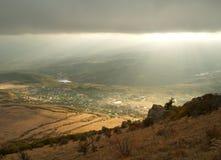 De bergen van de Krim Stock Foto's