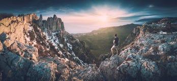 In de bergen van de Krim Instagramstylization Stock Afbeelding