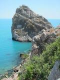 De bergen van de Krim, rotsdiva, Cat Rock, Simeiz Zet ai-Petri op Soorten de Krim Stock Foto's
