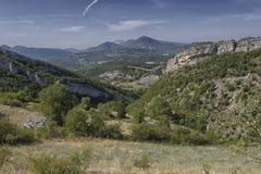 De bergen van de landschapsprovence Stock Foto