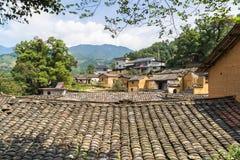 De bergen van de oude dorpen, heeft een geschiedenis, zhejiang China Stock Foto