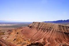 De bergen van de paleontologie stock foto