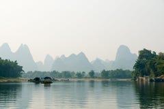 De bergen van de Rivier van Li Stock Foto