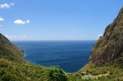 De Bergen van de rotshaak op St. Lucia Stock Afbeelding