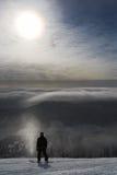 De bergen van de ruiter en van de hoogte Stock Fotografie
