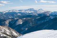 De Bergen van de sneeuw stock foto