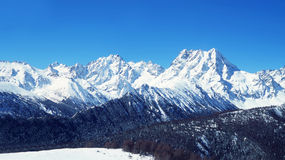 De Bergen van de Sneeuw van Baimang (Baima) Stock Foto's
