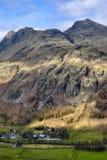 De bergen van de Snoeken van Langdale stock foto