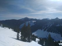 De bergen van de staat van Washington Stock Foto's