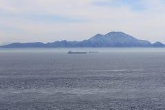 De Bergen van de Straat van Gibraltar en van de Atlas Royalty-vrije Stock Foto