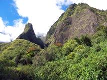 De bergen van de Vallei van Iao Stock Foto's