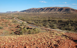 De bergen van de Waaiers van Flinders in Australië Stock Afbeelding