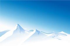 De bergen van de winter stock illustratie