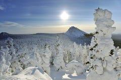 De bergen van de winter Stock Foto's