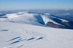 De Bergen van de winter Stock Afbeelding