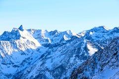De bergen van de winter Stock Afbeeldingen