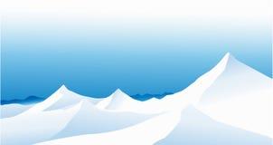 De bergen van de winter royalty-vrije illustratie