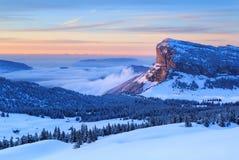 De bergen van de winter Stock Foto