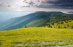 De Bergen van de zomer Stock Afbeelding