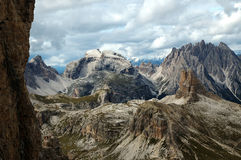 De bergen van Dolomiti Stock Fotografie