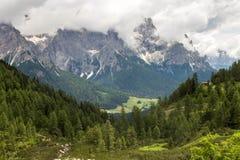 De bergen van Dolomiti Stock Afbeelding