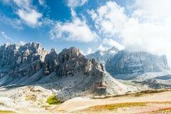 De bergen van Dolomiti Stock Foto