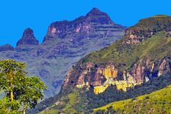 De Bergen van Drakensberg royalty-vrije stock afbeelding
