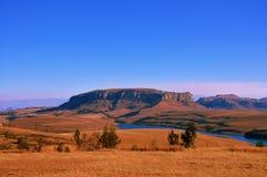 De bergen van Drakensberg Stock Foto's