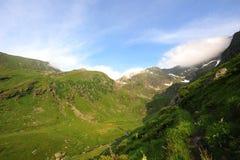 De bergen van Fagaras (piek Negoiu) Royalty-vrije Stock Foto's