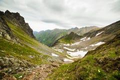 De bergen van Fagaras in Roemenië Stock Fotografie