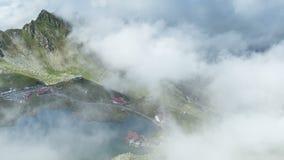 De Bergen van Fagaras, Roemenië Het gebied van Transsylvanië Timelapse stock footage