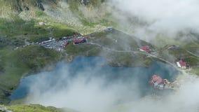 De Bergen van Fagaras, Roemenië Het gebied van Transsylvanië Timelapse stock video