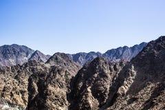 De bergen van Fujairah Stock Afbeeldingen